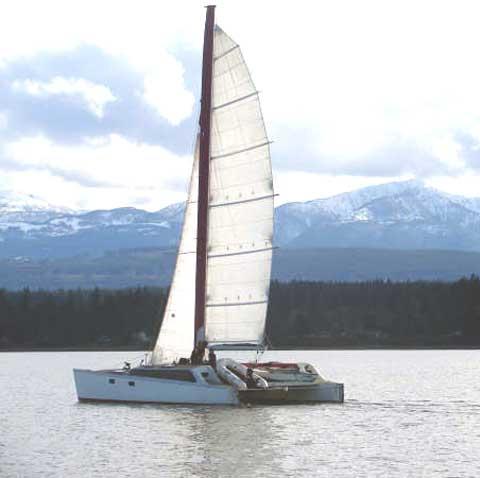 Custom 38 catamaran