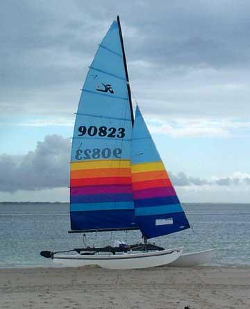 1988 Hobie 16 sailboat