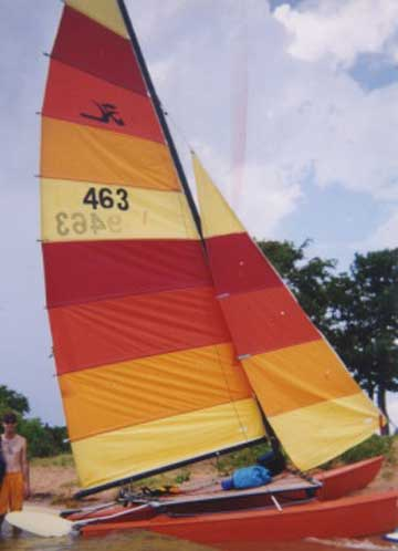 1976 Hobie 16 sailboat