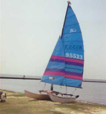 1985 Hobie 16 sailboat