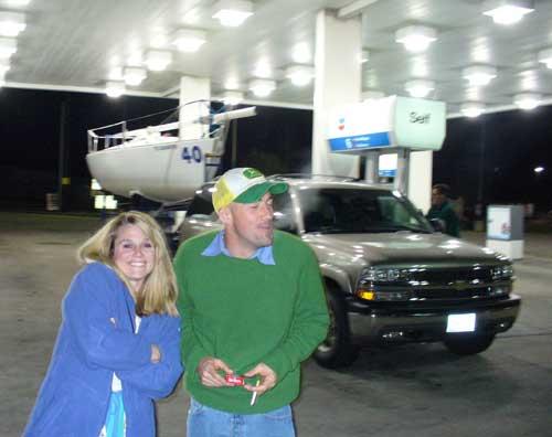 Karen and Winston at Louisiana Chevron