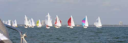 downwind with spinnakers