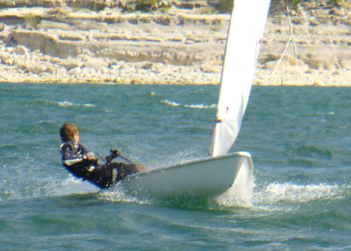 Alex Scanlon, downwind in race 1