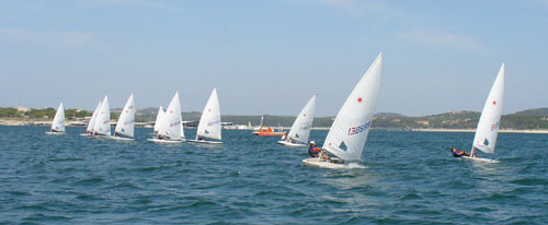 Ravi Subramanian leads the radials upwind.
