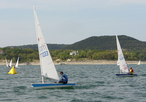 Scott Young and Fred Scroth, second and third in race 5