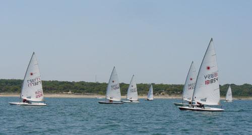 Race 8, first upwind leg.