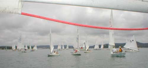Boats gather on day one