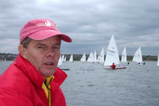 Mike Kilpatrick, one of the weather mark crew