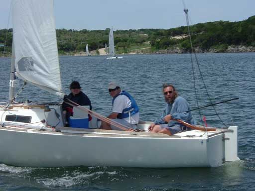 Fred Schroth in his J/22