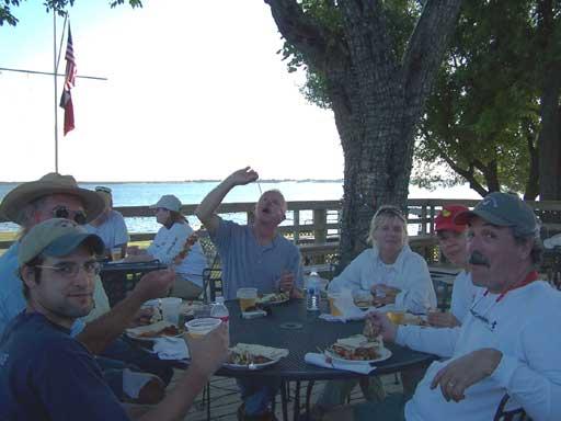 Post regatta celebration.