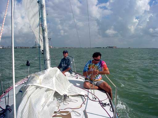 Charlie on bow 40