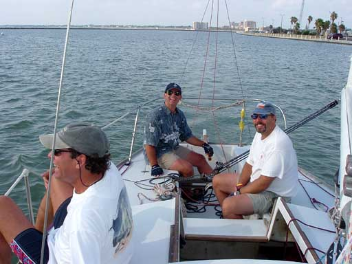 Charlie Singstad on bow 40.
