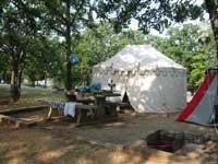 Preston Bend campsite