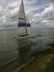 1980s Hobie 16 sailboat