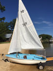Classic European Sailboat/Dinghy sailboat